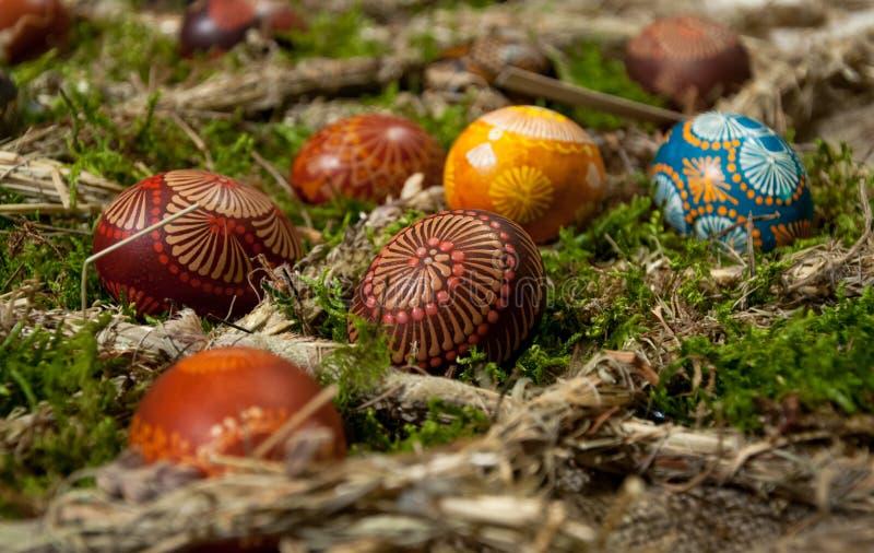 Ovos da páscoa pintados imagens de stock royalty free