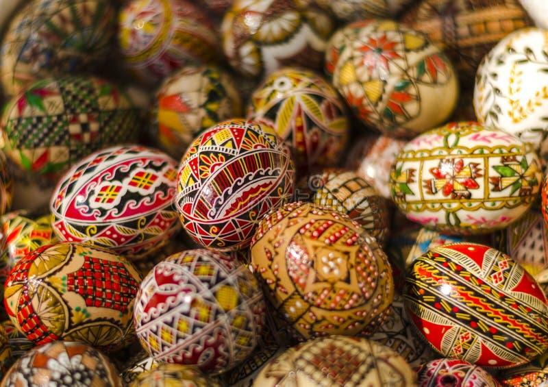 Ovos da páscoa pintados imagem de stock