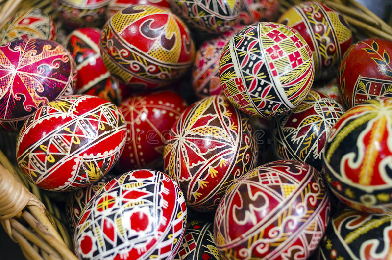 Ovos da páscoa romenos imagem de stock