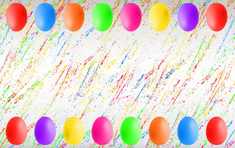 Ovos da p?scoa coloridos com copyspace ilustração do vetor
