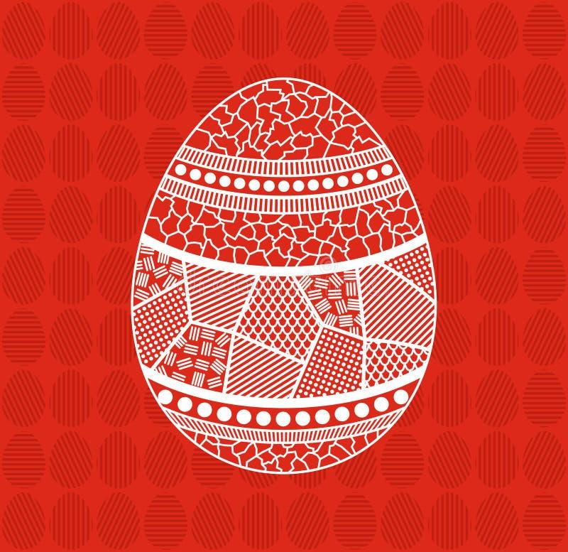 Ovos da p?scoa com ornamento fotos de stock royalty free