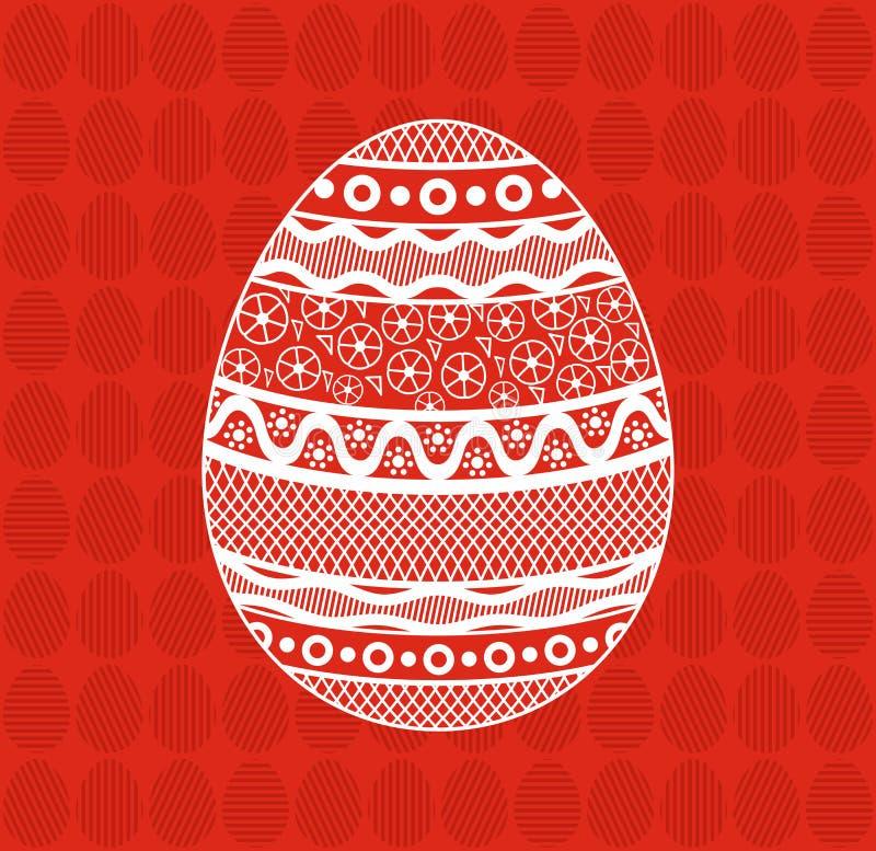 Ovos da p?scoa com ornamento imagem de stock