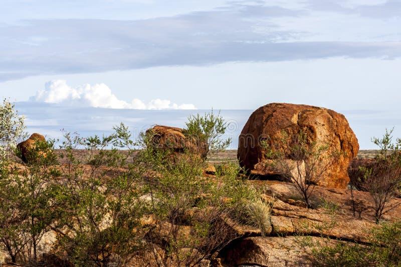 Ovos da serpente do arco-íris, reserva da conservação dos mármores dos diabos, Território do Norte, Austrália fotografia de stock royalty free