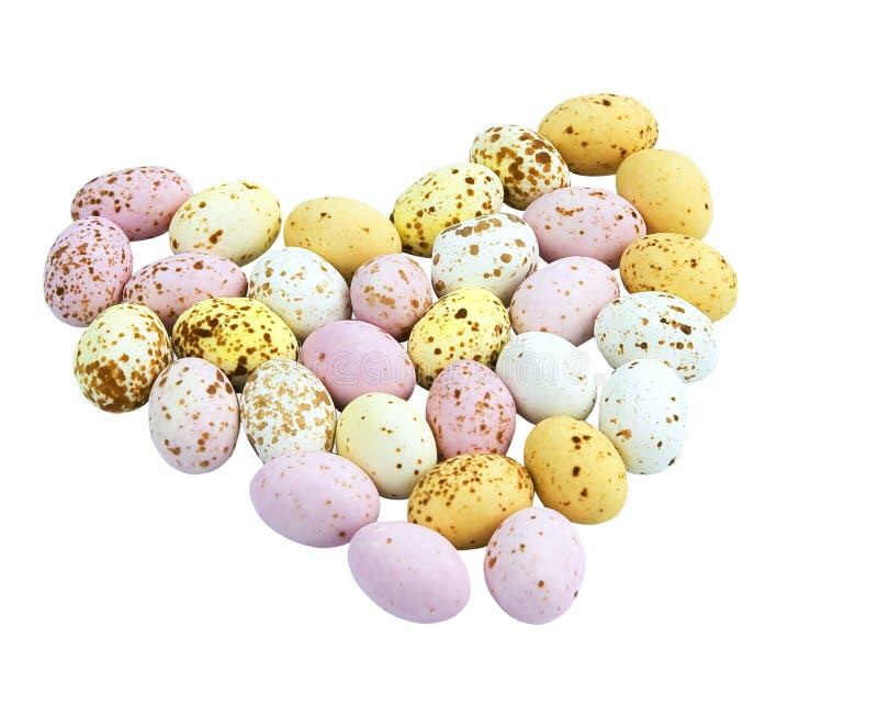 Ovos de chocolate salpicados diminutos fotos de stock royalty free