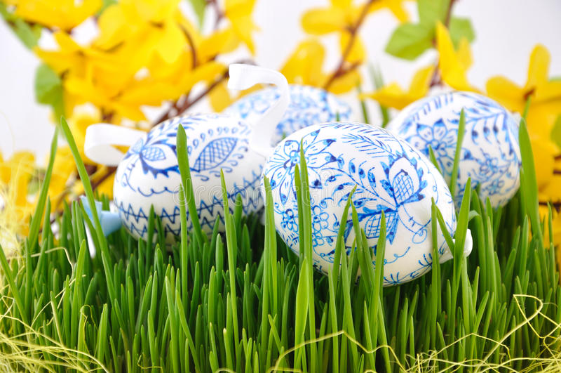 Ovos de easter checos fotografia de stock