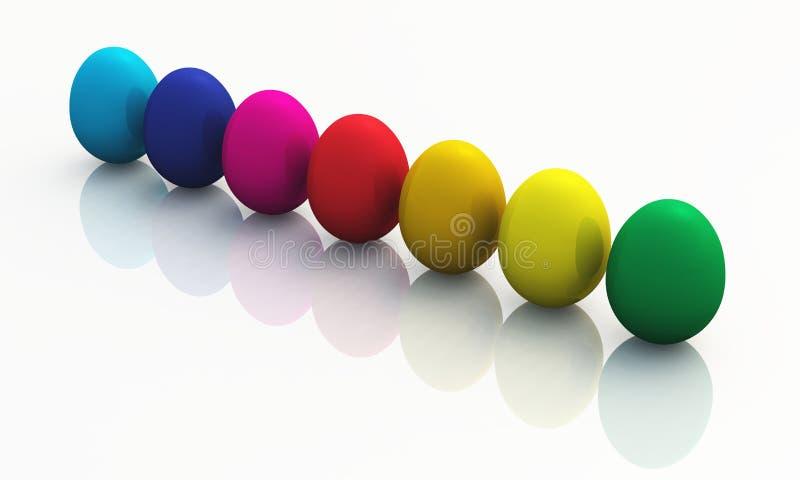 Ovos de easter coloridos 08 ilustração do vetor