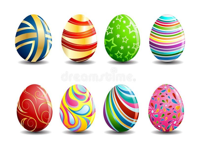 Ovos de Easter coloridos ilustração stock