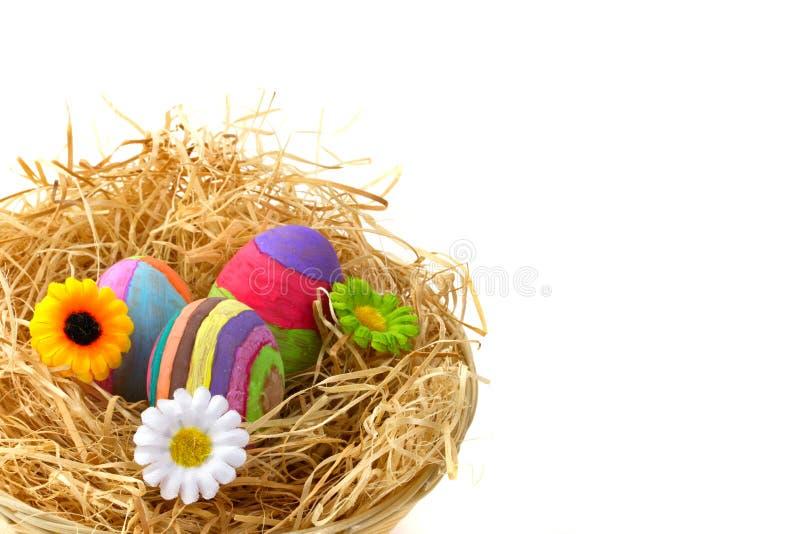 Ovos de Easter com flores foto de stock
