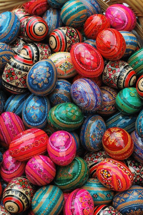 Ovos de Easter de madeira imagem de stock royalty free