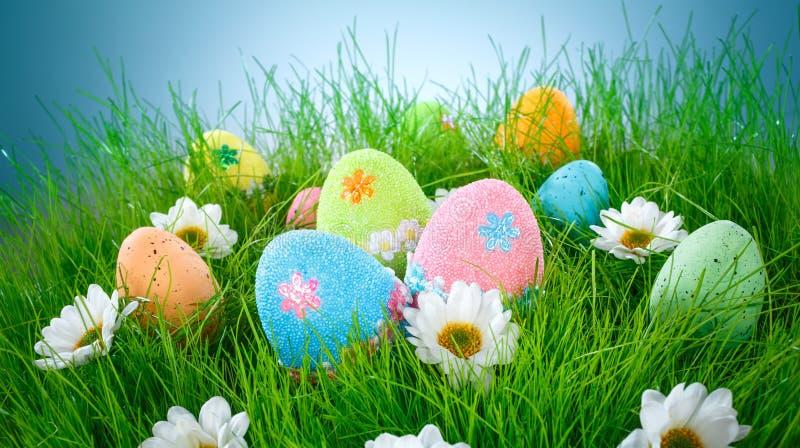 Ovos de Easter decorados fotografia de stock