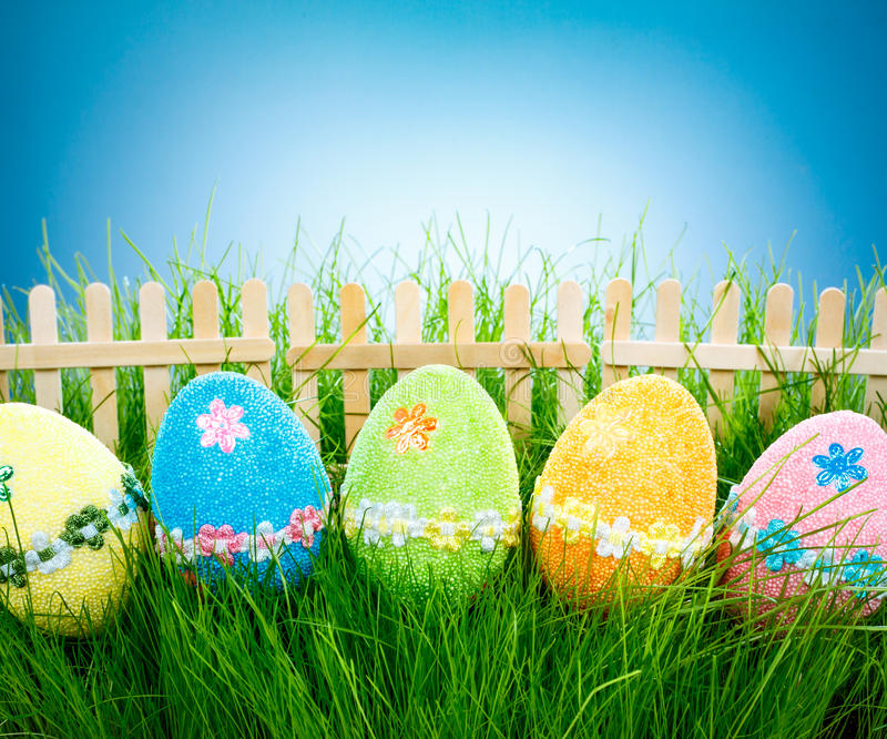 Ovos de Easter decorados foto de stock royalty free