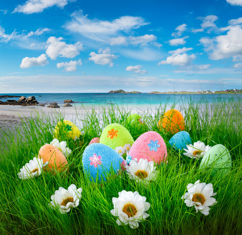 Ovos de Easter decorados fotos de stock
