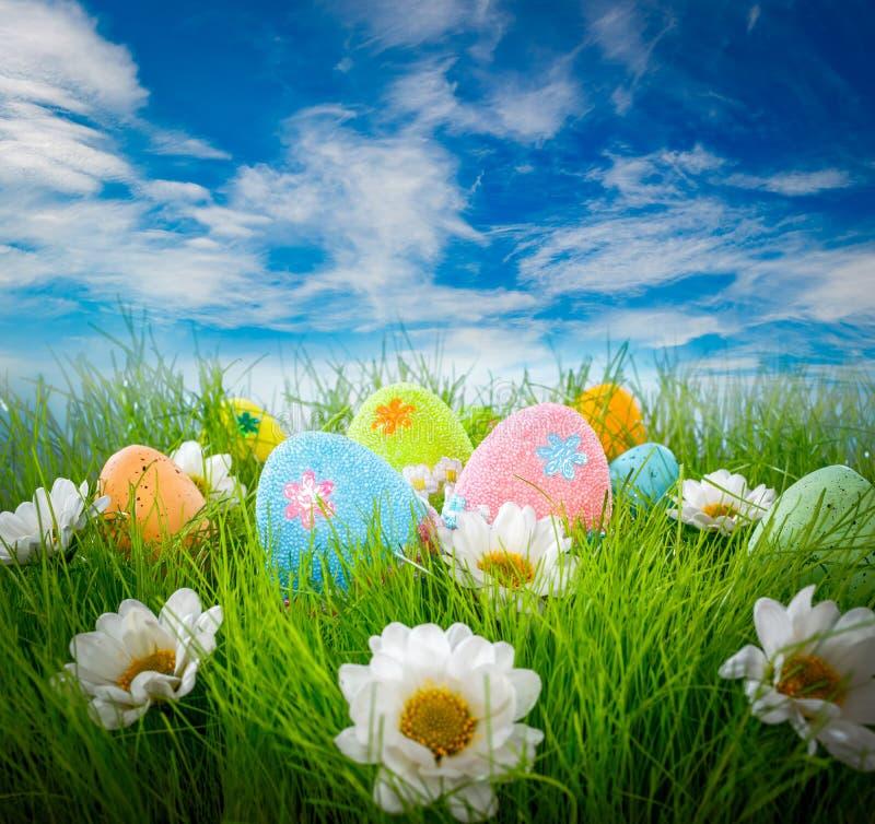 Ovos de Easter decorados imagens de stock