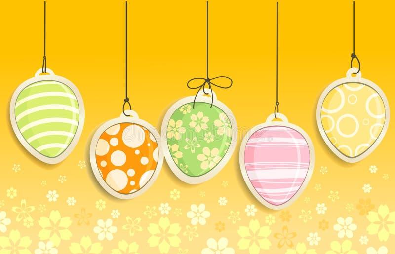 Ovos de Easter decorativos ilustração royalty free
