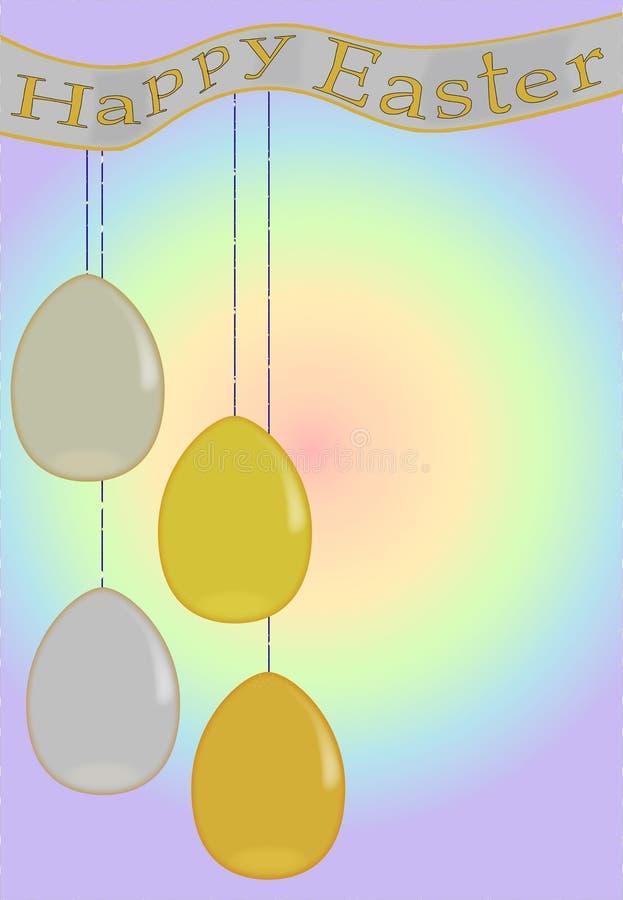 Ovos de easter do ouro e da prata ilustração royalty free