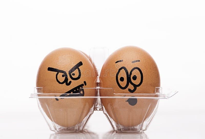 Ovos de easter engraçados imagens de stock royalty free