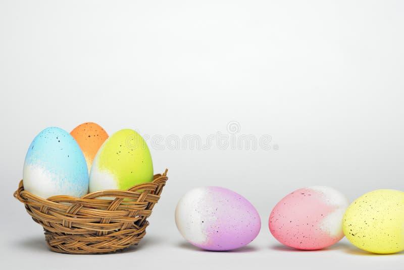 Ovos de Easter isolados imagem de stock royalty free