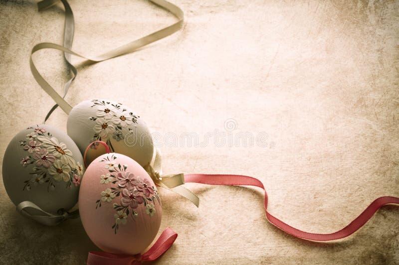 Ovos de Easter no estilo velho foto de stock