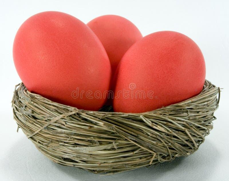 Ovos de Easter vermelhos fotos de stock