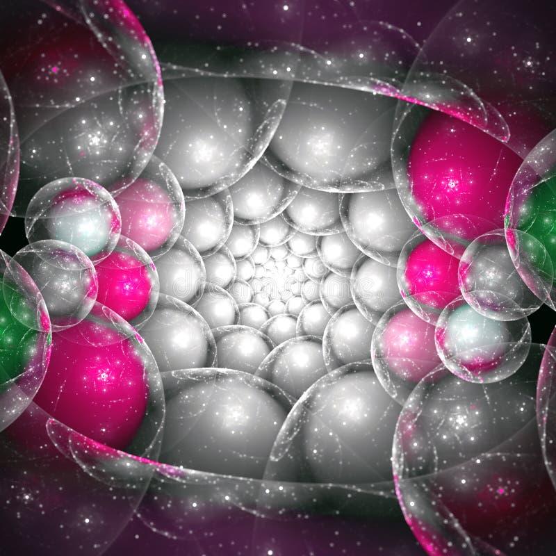 Ovos de prata e cor-de-rosa do dragão ilustração royalty free