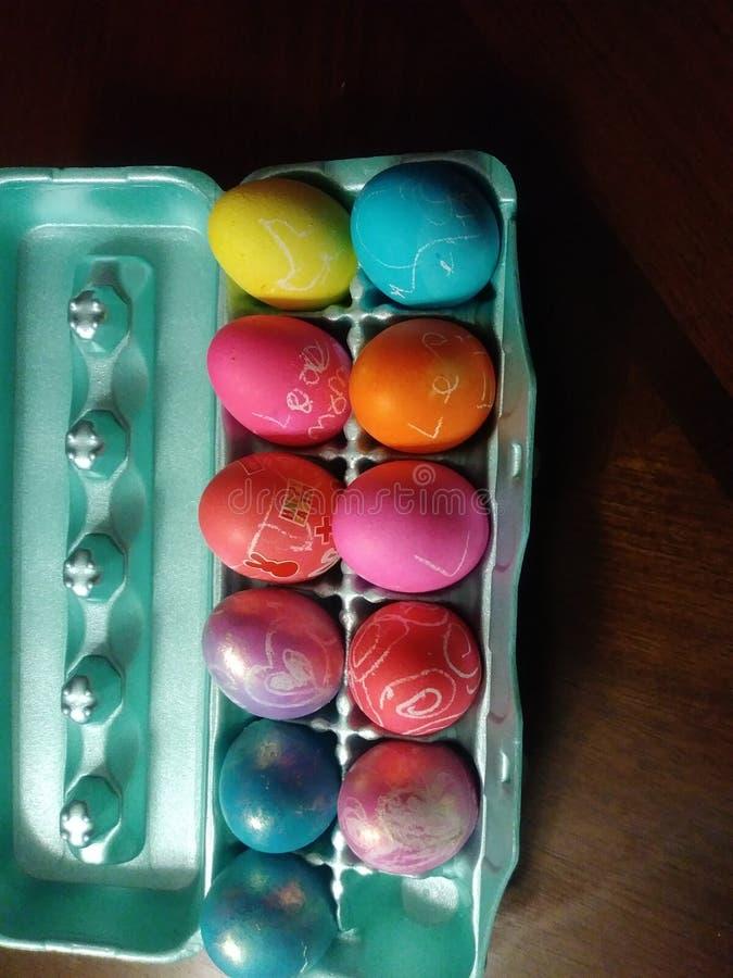 Ovos do arco-íris foto de stock royalty free