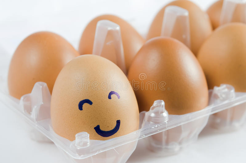 Ovos dos sorrisos fotografia de stock royalty free