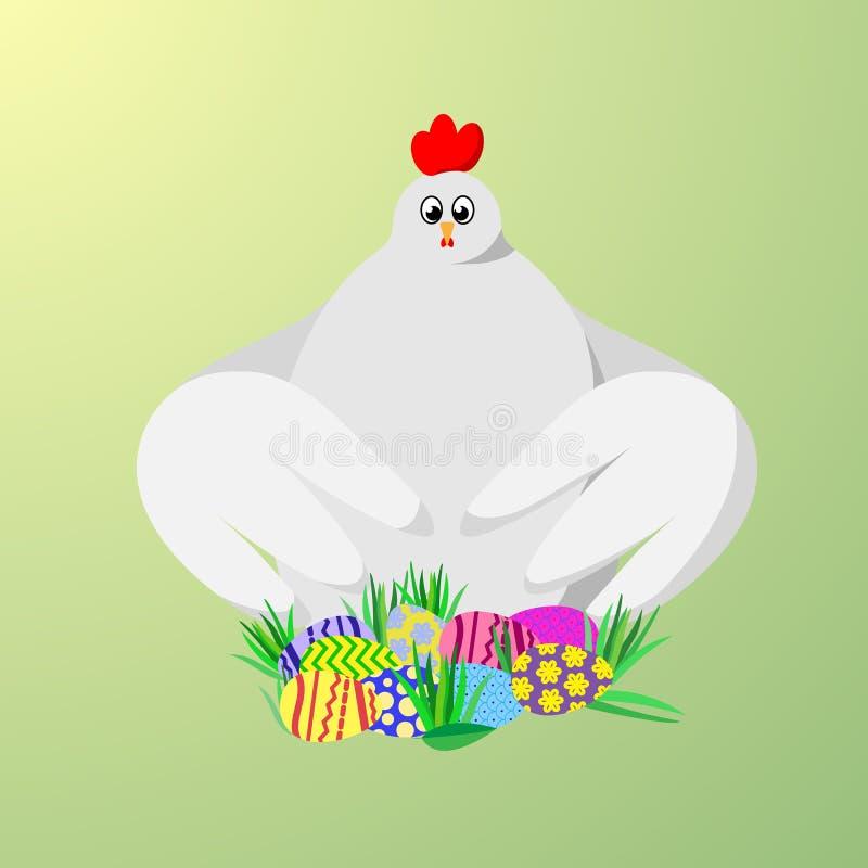 Ovos e galinha de Easter fotografia de stock