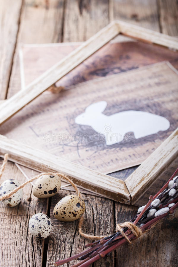Ovos e salgueiro de codorniz imagem de stock