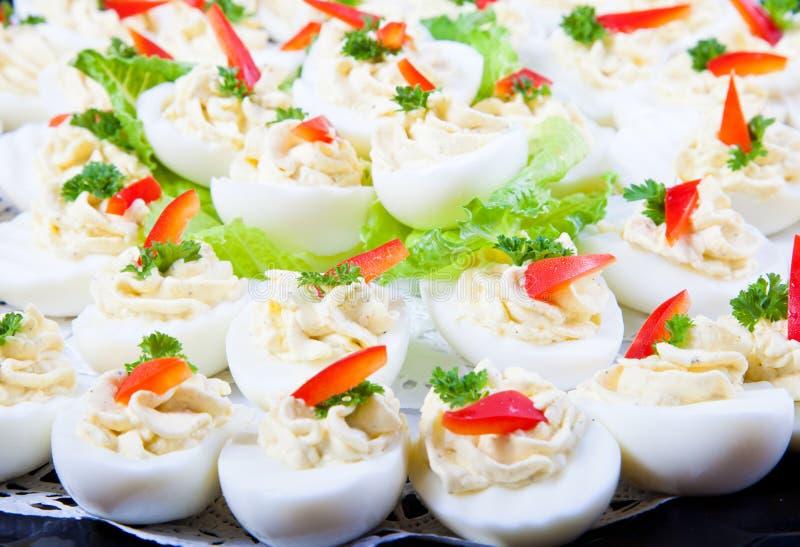 Ovos enchidos fotografia de stock