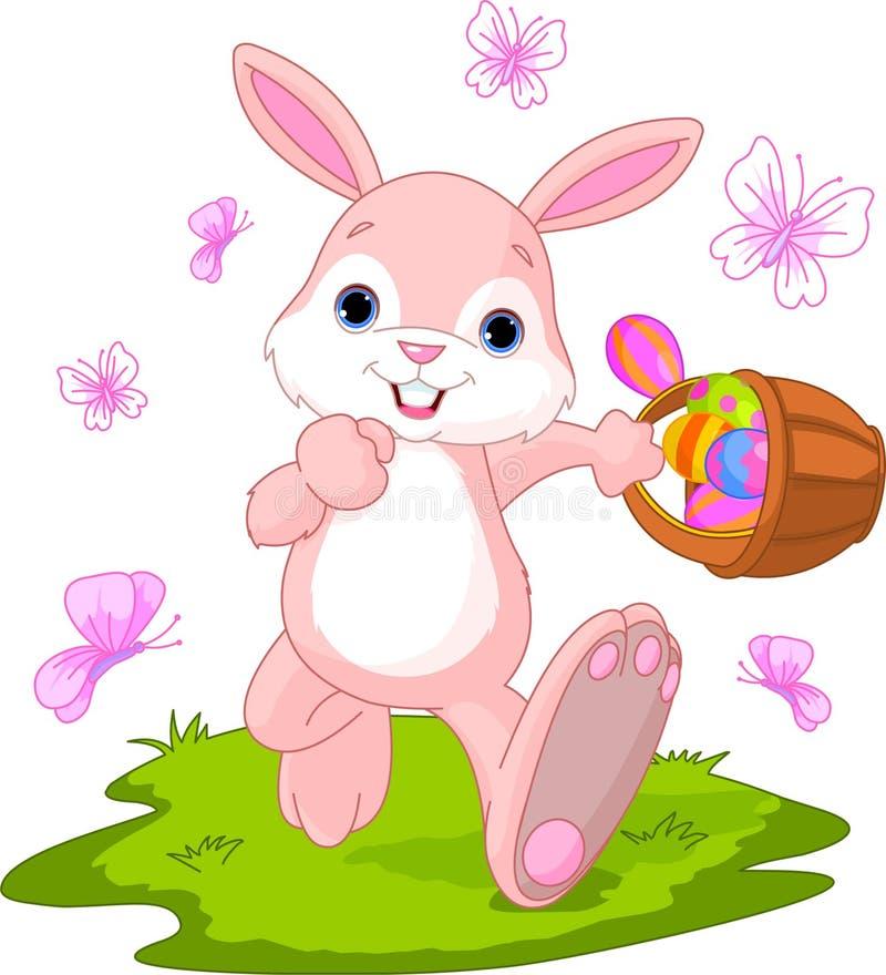 Ovos escondendo do coelho de Easter ilustração do vetor