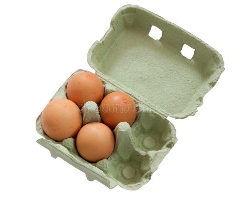 Ovos frescos Free-range imagens de stock