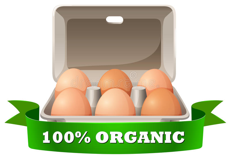 Ovos frescos na caixa ilustração stock