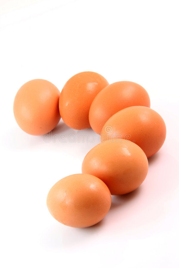Ovos frescos na curva fotografia de stock