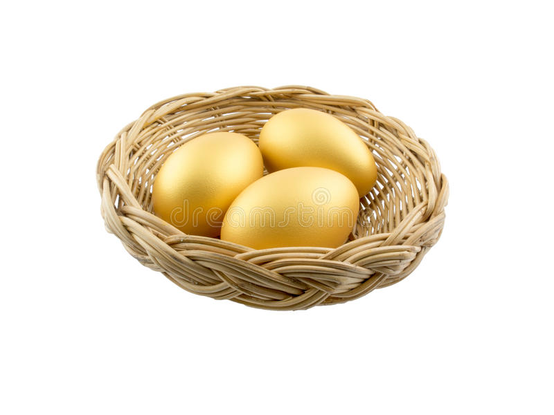 Ovos isolados no fundo branco imagens de stock royalty free