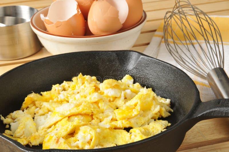 Ovos mexidos imagens de stock