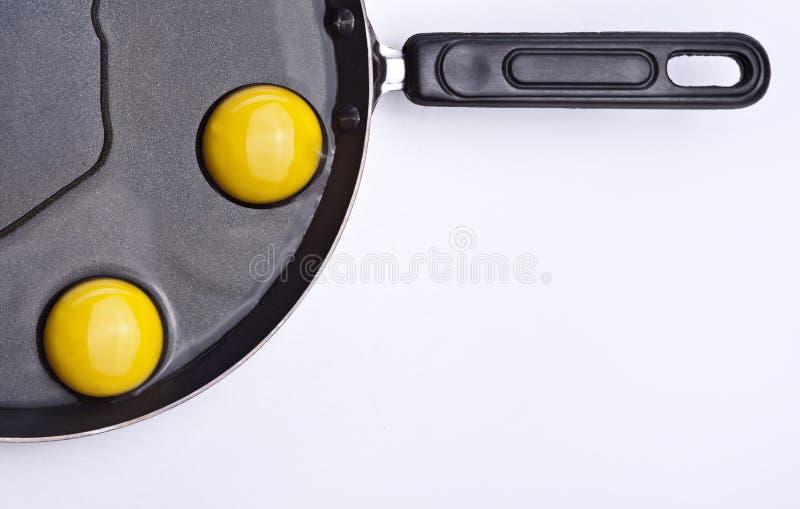 Ovos na bandeja imagens de stock