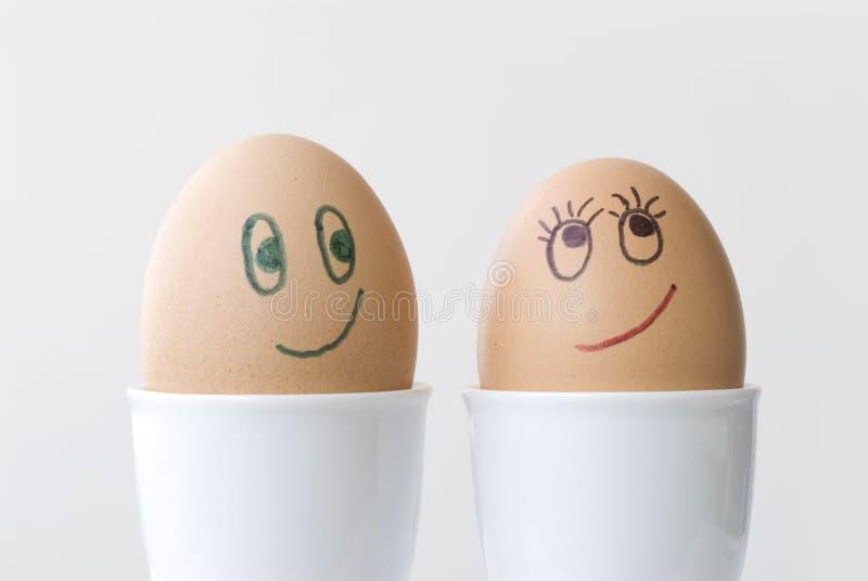 Ovos no amor 1 fotografia de stock