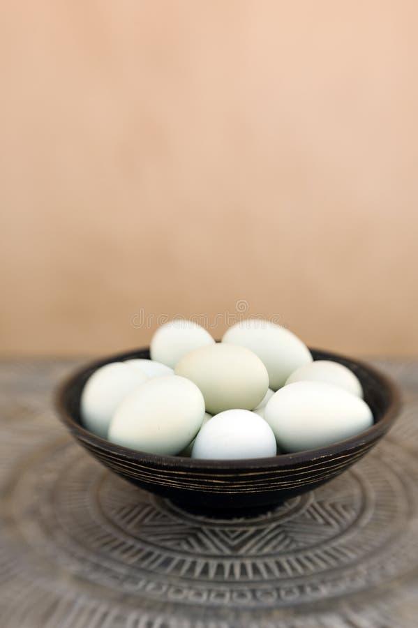 Ovos orgânicos foto de stock
