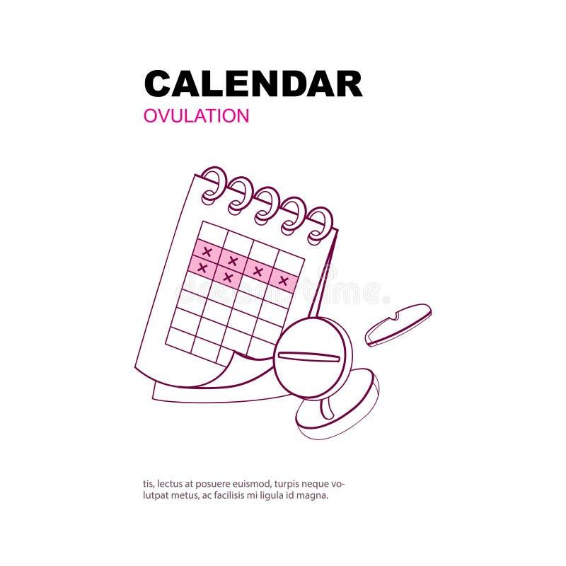 Ovulation calendar vector illustration