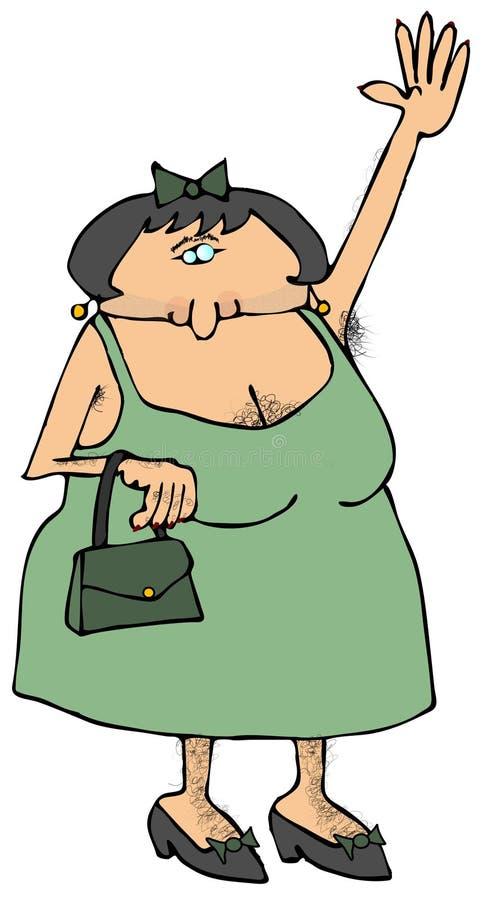 owłosiona kobieta ilustracja wektor