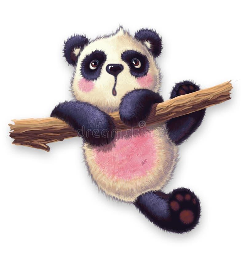 Owłosiona panda zdjęcie stock