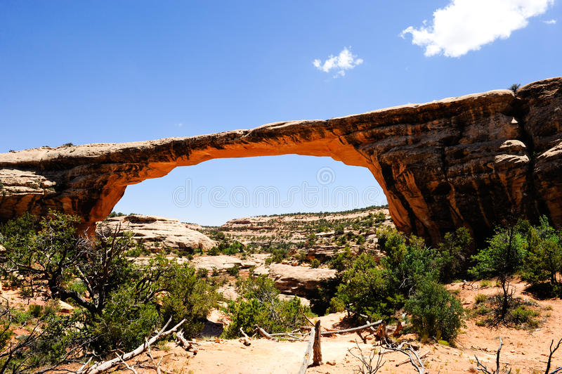Owachomo bridge. At Natural Bridges national monument stock photo