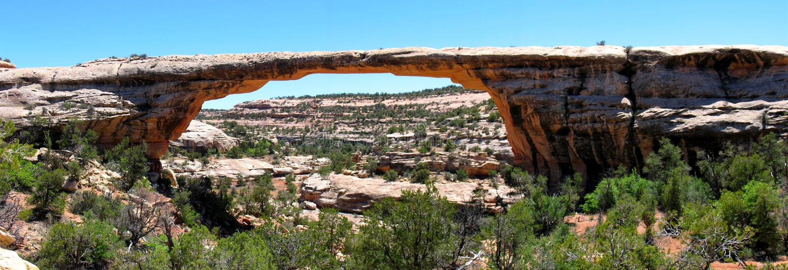 Owachomo Bridge, Utah. Owachomo Bridge, Natural Bridges National Monument, Utah, USA royalty free stock image