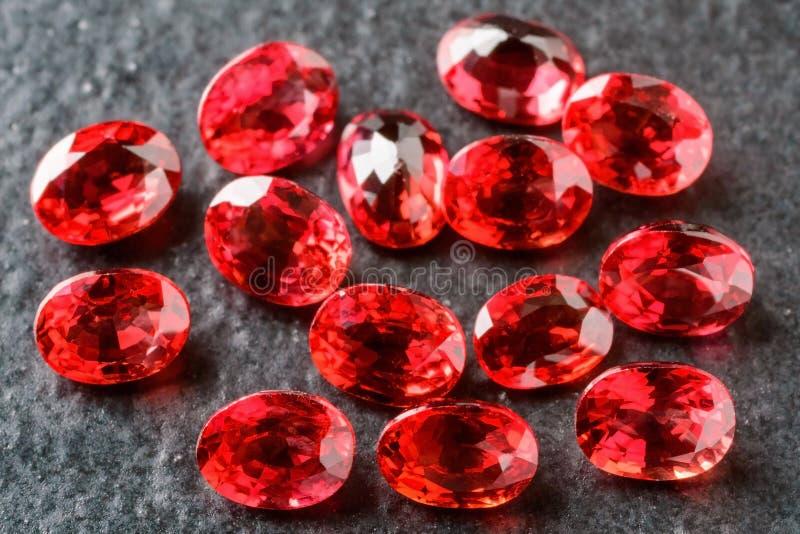 Owalni rubiny zdjęcia royalty free
