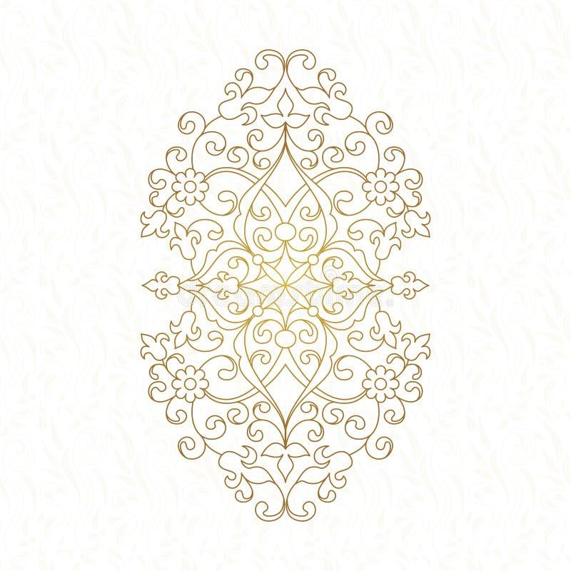 Owalny element dla projekta royalty ilustracja