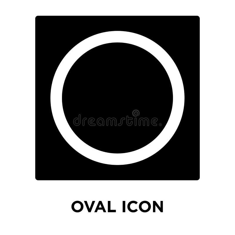 Owalny ikona wektor odizolowywający na białym tle, loga O pojęcie ilustracja wektor