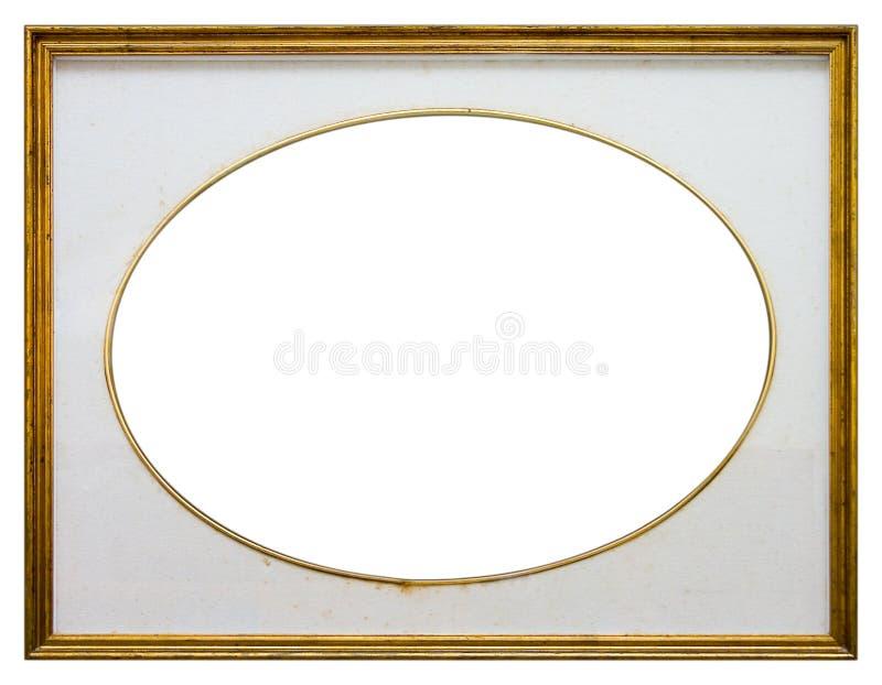 owalny ramowy drewniane obraz royalty free