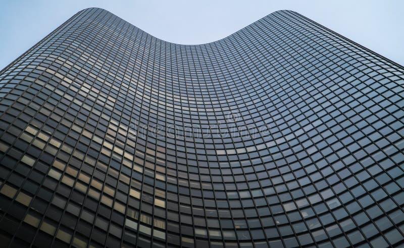 Owalu kształtny skyskraper zdjęcia royalty free