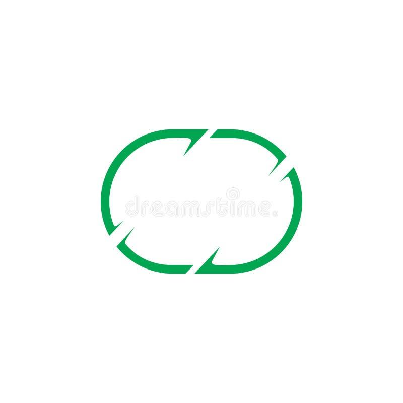 Owalu symbolu loga ramowy wektor royalty ilustracja