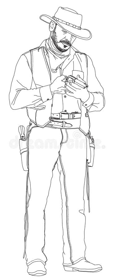 Сowboy with a revolver